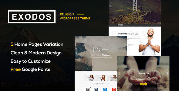 Exodos - Church WordPress Theme            TFx