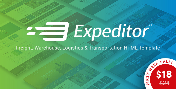 Expeditor - Freight, Logistics, Warehouse & Transportation HTML Template            TFx