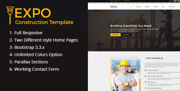 Expo Construction HTML Template            TFx