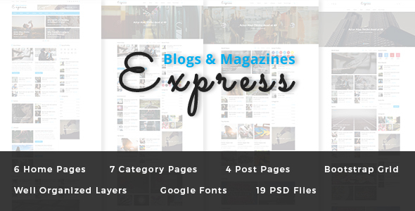Express - Blog and Magazine PSD Template            TFx