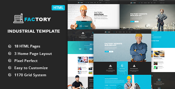 Factory - Industrial Business HTML5 Template            TFx