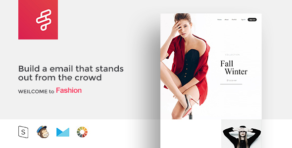 Fashion F - Responsive Email Template Minimal            TFx