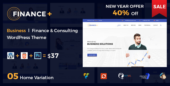 Finance + Corporate Business and Consultancy WordPress Theme            TFx