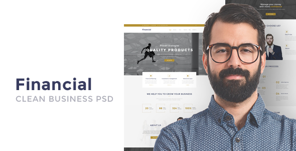 Financial - Clean Business WordPress Theme            TFx