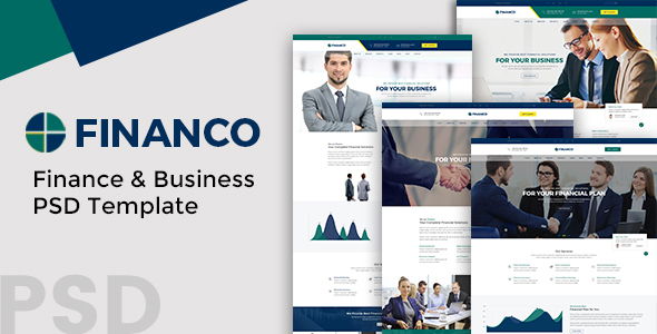Financo - Finance and Buisness PSD Template            TFx