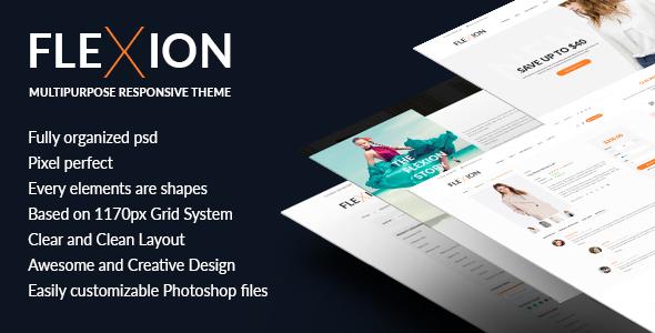 Flexion - PSD Templates For Fashion E-Commerce Store            TFx