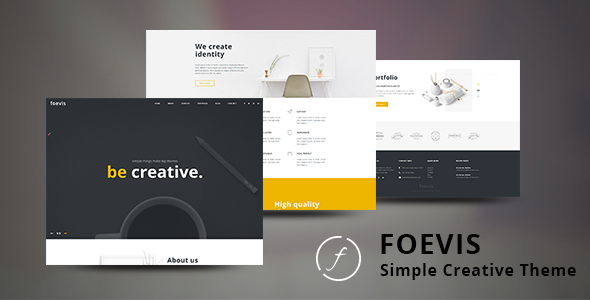 Foevis - A WordPress Theme For Creative Agency            TFx