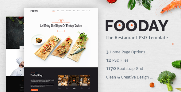 Fooday - Restaurant PSD Template            TFx