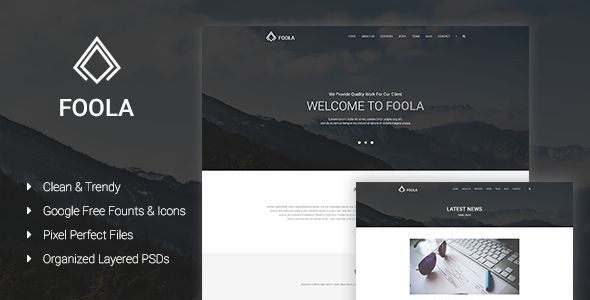 Foola - One Page Multipurpose PSD Template            TFx