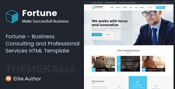 Fortune - Business Consulting and Professional Services HTML Template            TFx