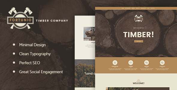 Fortunio - Timber | Forestry | Wood Manufacture WordPress Theme            TFx