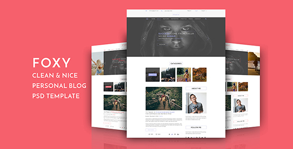Foxy Blog PSD Template            TFx