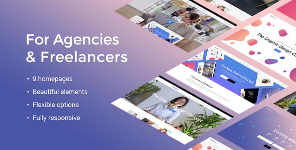 Fuzion - A Fresh Theme for Design Agencies & Freelancers            TFx