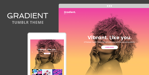 Gradient Tumblr Theme            TFx