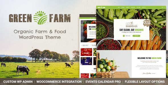 Green Farm - Organic Food Farm & Eco Food Store WordPress Theme            TFx