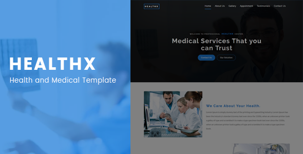 Healthx - Health and Medical Template            TFx