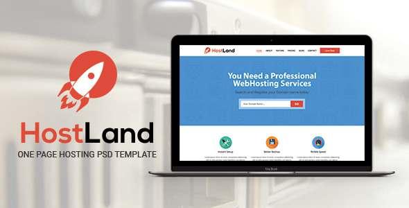 HostLand - One Page Hosting PSD Template            TFx