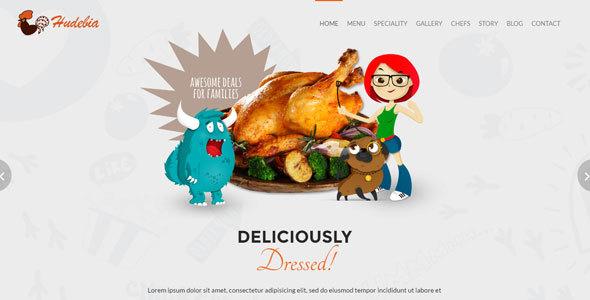 Hudebia - Restaurant HTML Template            TFx