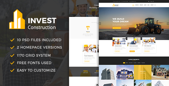 INVEST - Construction PSD Template            TFx