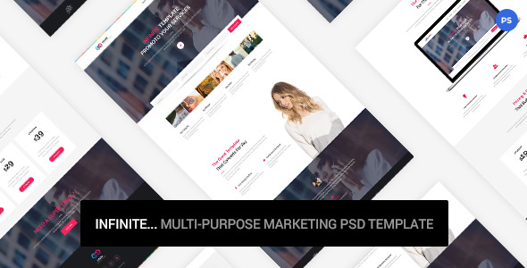 Infinite - Marketing PSD Template            TFx