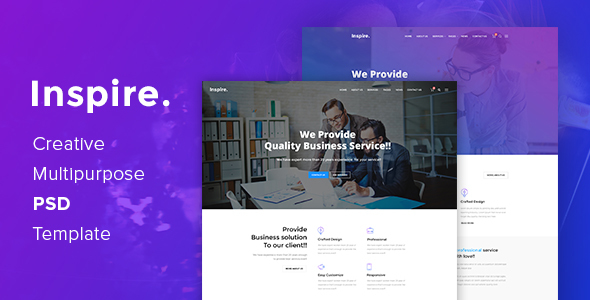 Inspire. - Creative Multipurpose PSD template            TFx