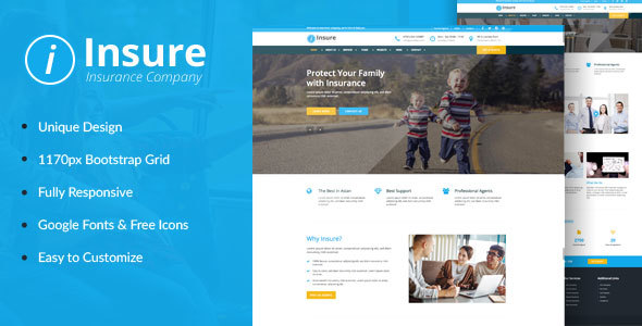 Insure - Insurance, Finance, & Business HTML Template            TFx