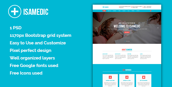 Isamedic - Template Medic PSD            TFx