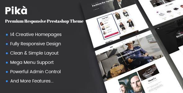 JMS Pika - A Premium Multi Concept Prestashop Theme            TFx