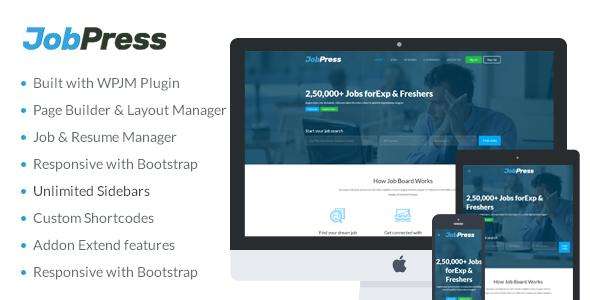JobPress - Premium WordPress Job Manager Theme            TFx