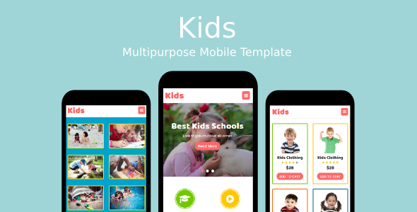 Kids - Multipurpose Mobile Template            TFx