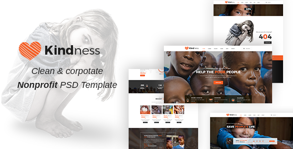 Kindness ||  Non-Profit, Charity & Donations PSD Template            TFx