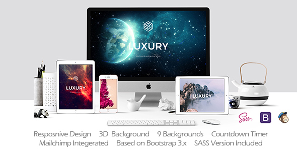 LUXURY // Responsive Coming Soon Template            TFx