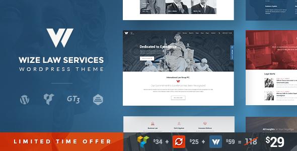 Law Services | Lawyer & Attorney Business WordPress - WizeLaw            TFx