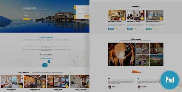 Leevio & Resort, Hotel, Travel PSD Template            TFx