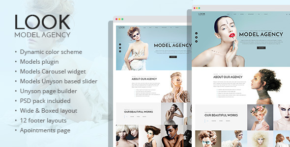Look - fashion and model portfolio WordPress theme            TFx
