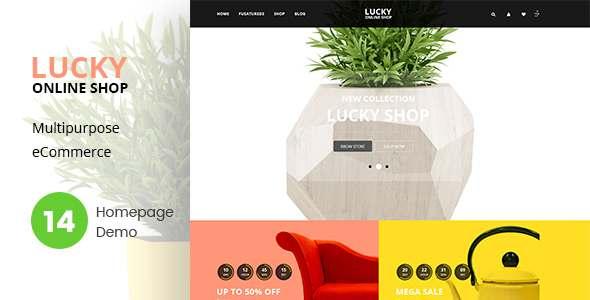 Lucky Online Shop Html Template            TFx