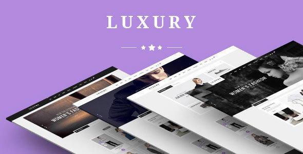 Luxury - eCommerce Fashion Template            TFx
