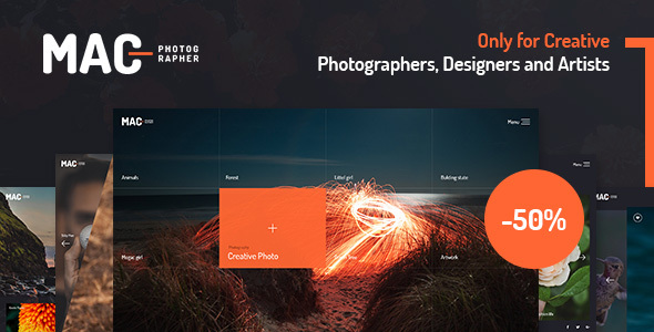 MAC - Photography Fullscreen WordPress Theme            TFx