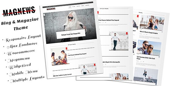 Magnews - Clean Blog and Magazine Theme            TFx