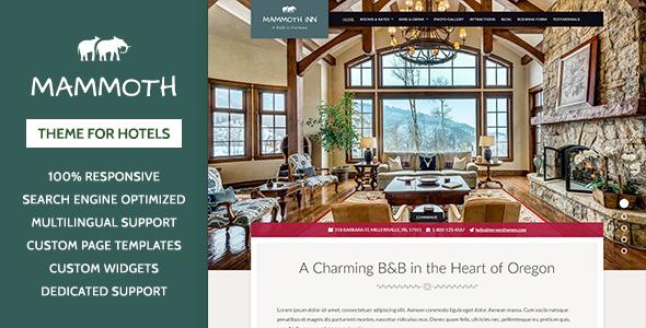 Mammoth Inn - Hotel WordPress Theme            TFx