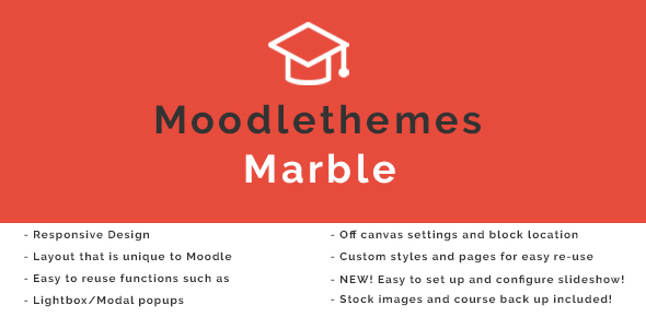 Marble - Responsive Moodle Theme            TFx