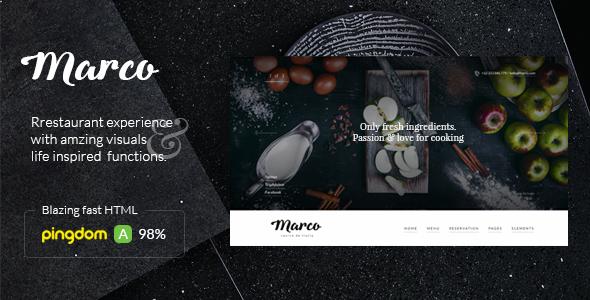 Marco - Modern & Unique Restaurant Template            TFx