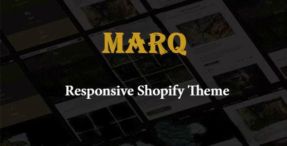 Marq - Responsive Shopify Theme            TFx