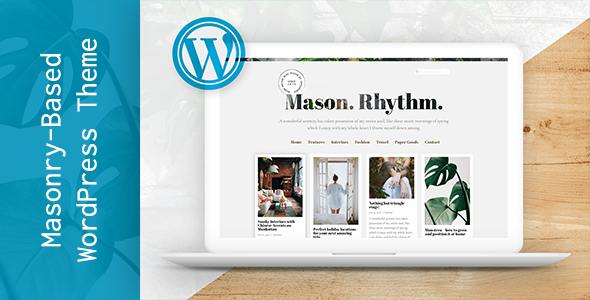 Mason Rhythm. WordPress Masonry Theme            TFx