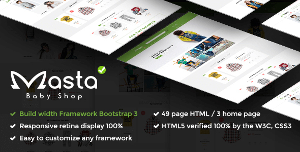 Masta - Baby Shop eCommerce Responsive HTML5 Template            TFx
