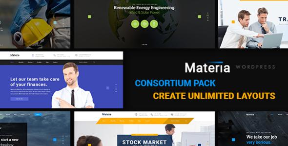 Materia - Consortium Pack WordPress Theme            TFx