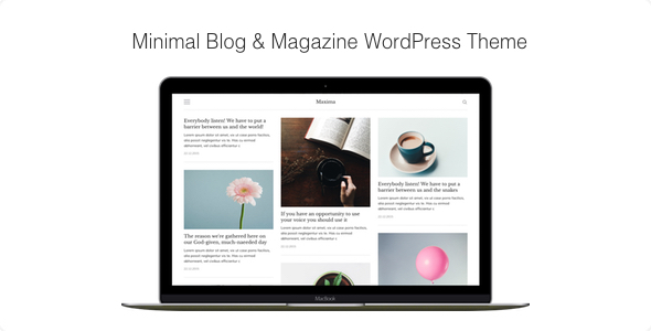 Maxima - Minimal Blog & Magazine WordPress Theme            TFx