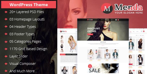 Menda eCommerce WordPress Themes            TFx
