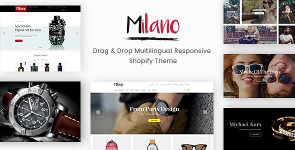 Milano - Drag & Drop Multilingual Responsive Shopify Theme            TFx