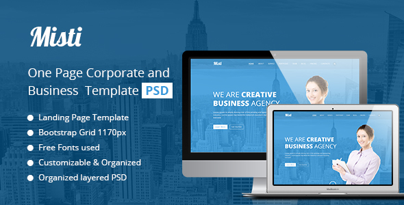 Misti One Page Corporate and Business Template            TFx